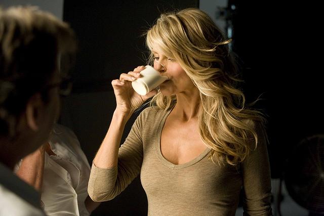 Christie Brinkley at her Milk Mustache ad shoot