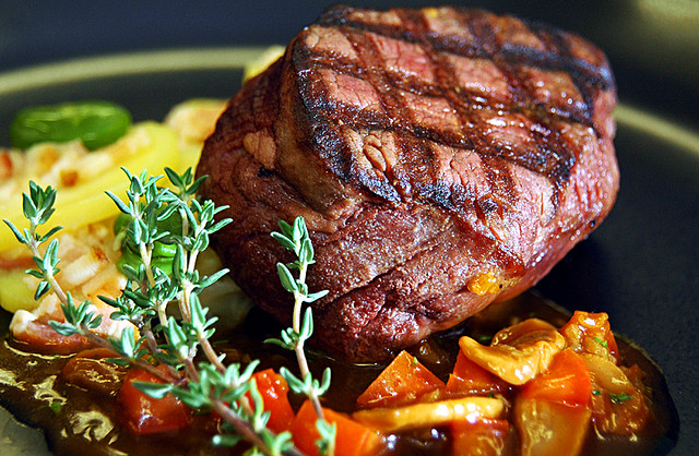 Grilled Beef Fillet with Chasseur Sauce