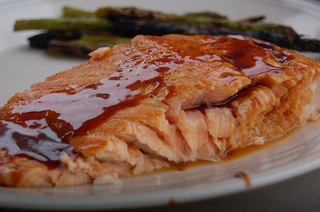 Grilled Salmon Closeup