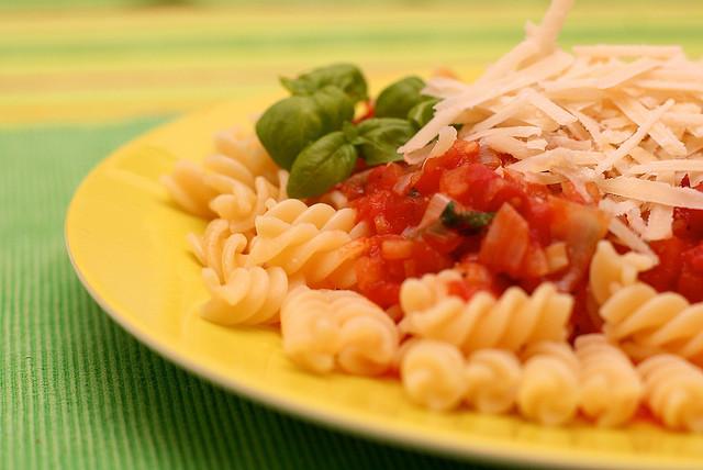 Pasta, Tomato Sauce, Parmesan