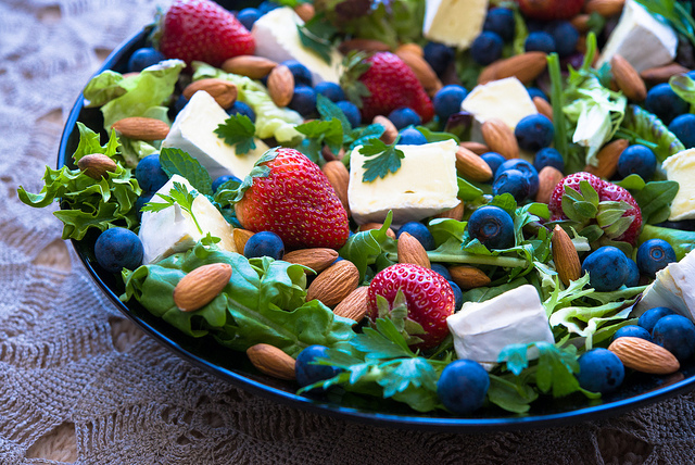 Berry, Brie & Almond Salad