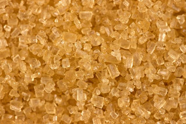 Demerara sugar crystals