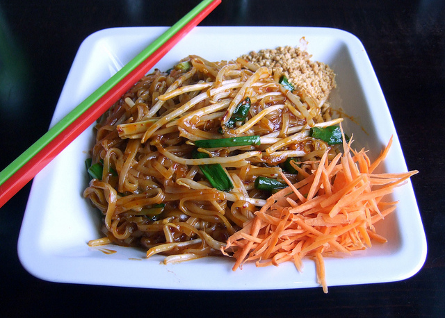 Pad Thai (Jhanjay Vegetarian Thai Cuisine, Ballard, Seattle)