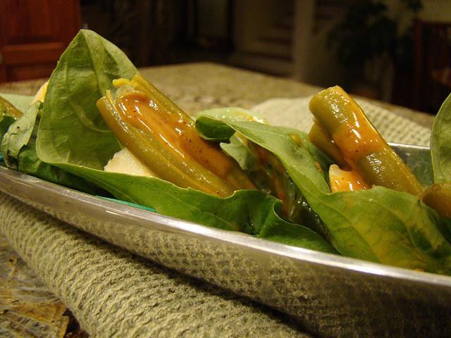 Artichoke Bean Canapes with Chipotle Kreme