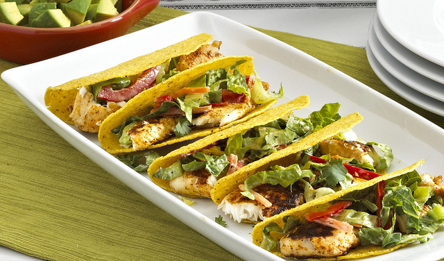 Grilled Tilapia Tacos w Tri-Colored Slaw