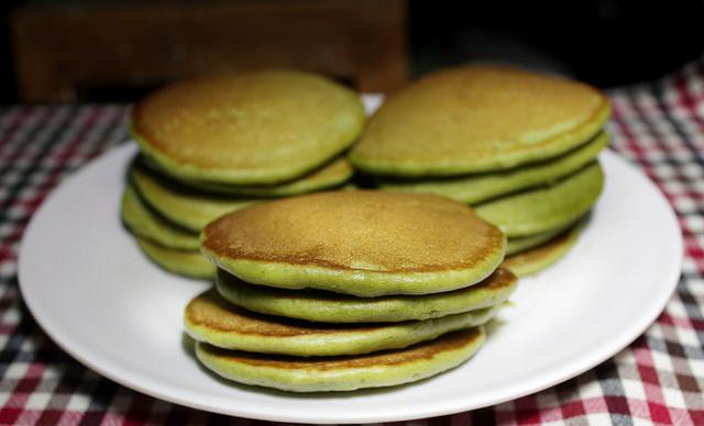 Homemade Matcha Pancake