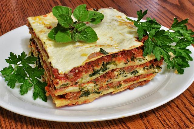 Mmm... lasagna