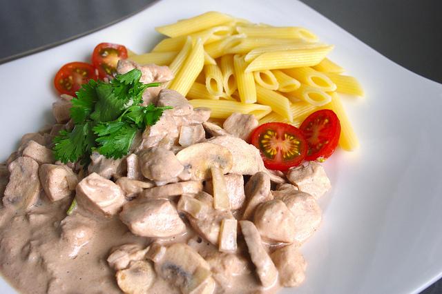 Poulet aux champignons et à la noix de pécan / Pecan and mushroom chicken