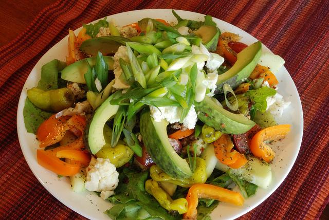 More salad...