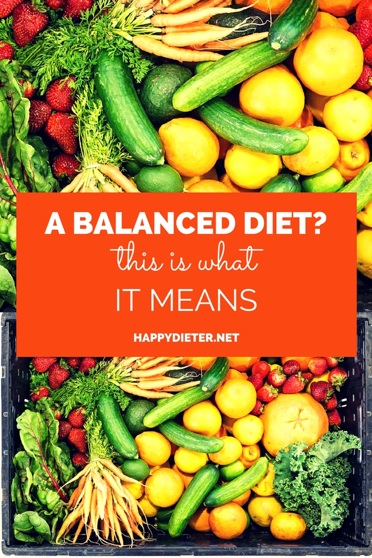 A Balanced Diet? This Is What It Means